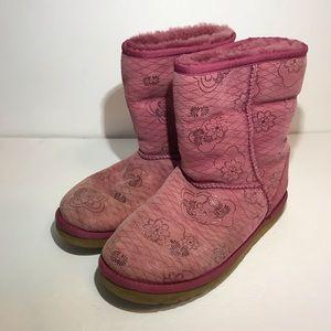 UGG Classic Short Kimono Heirloom Boots Sz 8 Pink